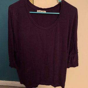 Express Purple Flowy Blouse